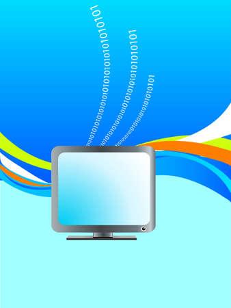 decode: computer monitor and binary digits
