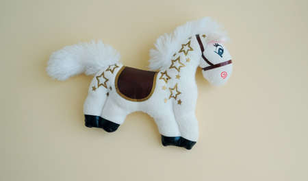 soft toy horse, symbol of the year