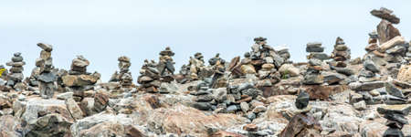Inuksuks Facing the Atlantic Ocean in Portsmouth,  New Hampshire, USA Stock fotó