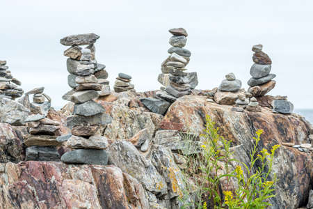 Inuksuks in Portsmouth Seacoast Science Center Area, New Hampshire, USA