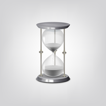 illustration of classic Hourglass. 일러스트