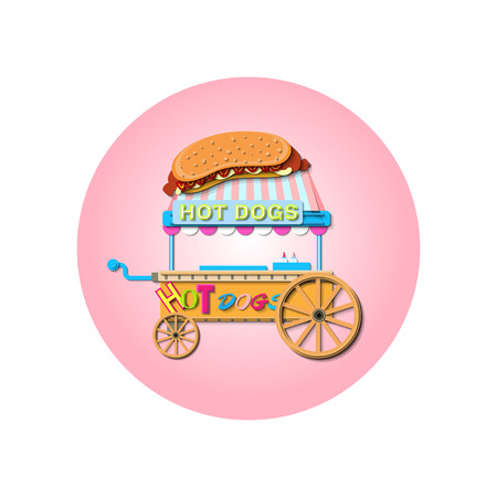 Illustration Of  Hotdog stall