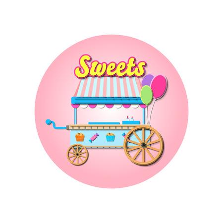 Illustration Of  Sweet Stall