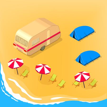 Camping at the seashore