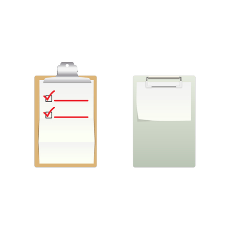 Vector Clipboards,High detailed note boards Ilustracja