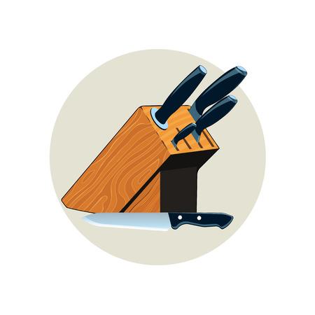 A set of kitchen knives, Kitchen knife icon