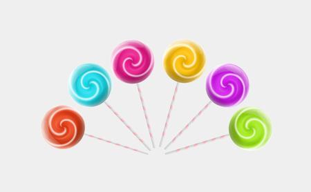 Colorful Lollipops Illustration