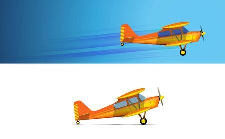 Yellow Vintage Propeller Plane