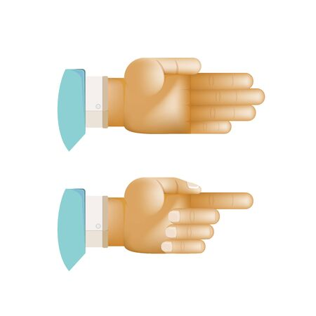 Vector Pointing Hands,Man Hands Pointing on White background Ilustracja