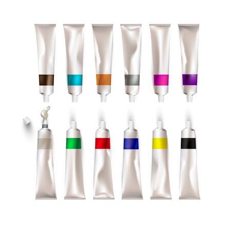 Twelve colors of painting pigments