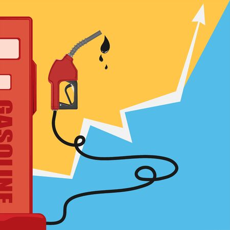 Save Fuel pump icon. Petrol station sign.Gasoline pump nozzle with oil dripping.