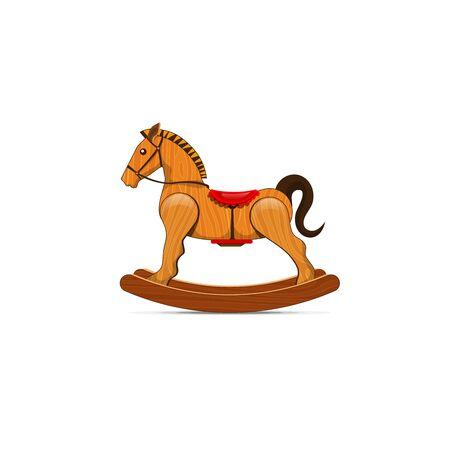 Vector Wooden Rocking horse illustration