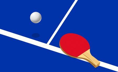 Vector illustration of table tennis.