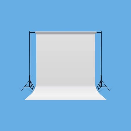 High Detailed and realistic 3d model of Photography Backdrop Support.Front View
