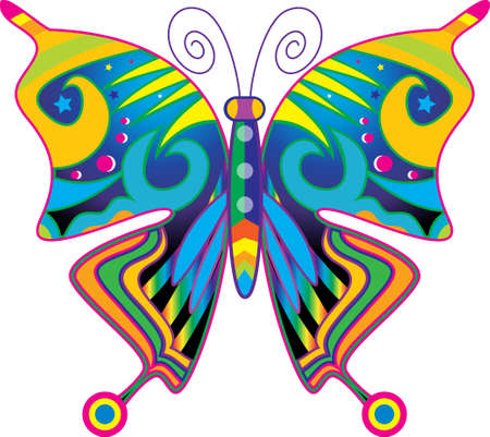 at ease: decorative butterfly Illustration
