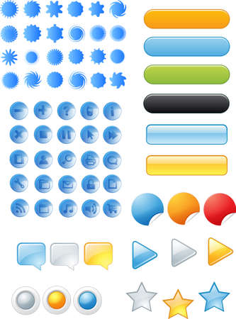 novelty: web icons and buttons