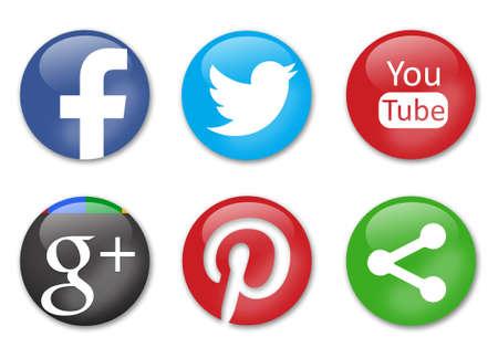 Soziale Netzwerke Zeichen Standard-Bild - 26557277