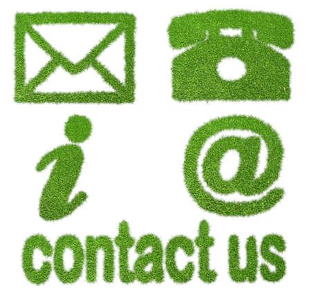contact details: commercial contact signs for business from grass