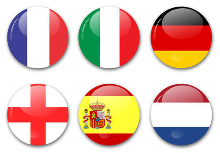 flags from european countries photo
