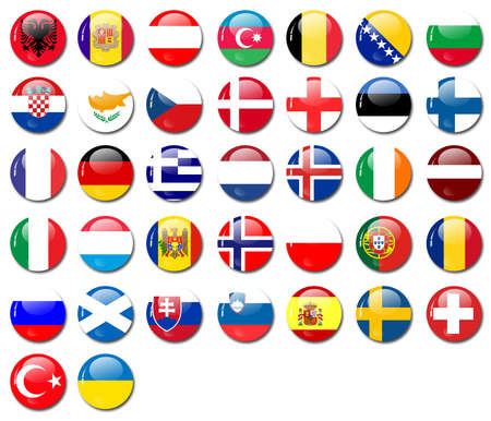 flags from european countries Stock Photo