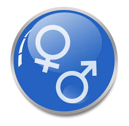 masculine: male female symbols Stock Photo