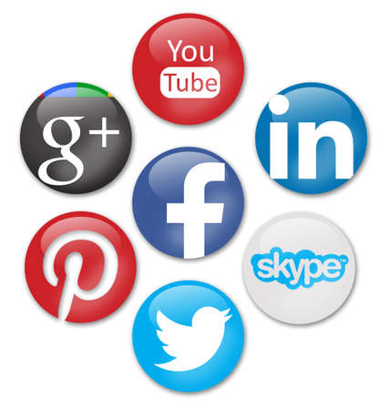 icone tonde: segni di social network