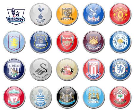 Premier League voetbalteams Redactioneel