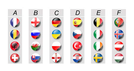 euro 2016 groups in soccer Stock Photo