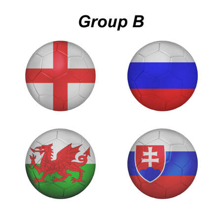 b ball: euro 2016 group b in soccer