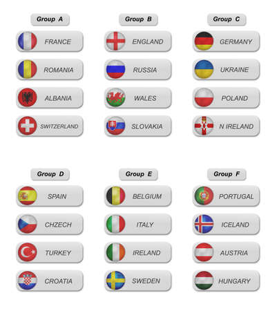 champion of spain: euro 2016 groups  in soccer Stock Photo