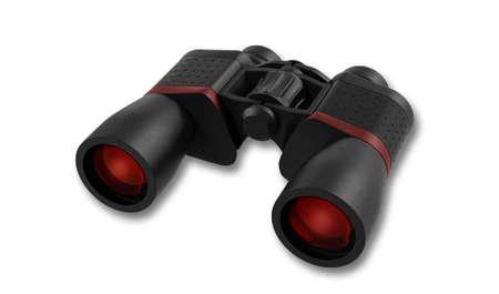 black: black binoculars
