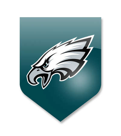 philadelphia eagles nfl team on white Editorial