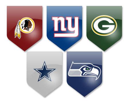 seahawks: NFL Teams, pieles rojas, gigantes, envasadores, los vaqueros y los Seahawks