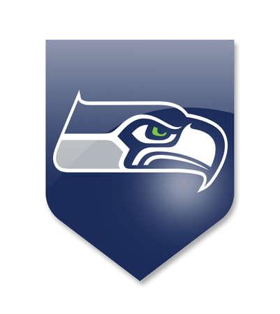 seattle seahawks nfl team on white Editorial