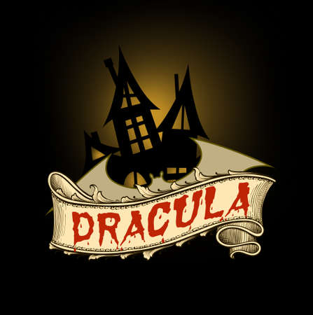 Dracula is gothic horror novel by irish author Bram Stoker Banque d'images