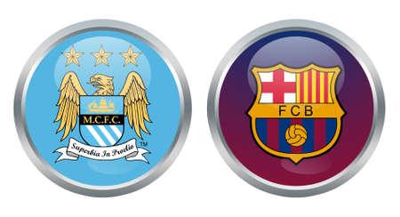 Manchester City vs Barcelona tekens