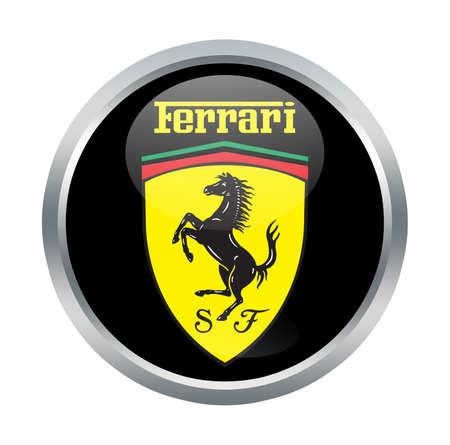 enzo: Ferrari sign on white