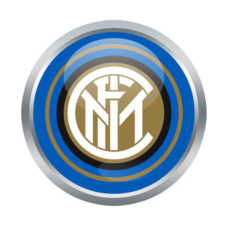 inter: Inter fc sign on white Editorial