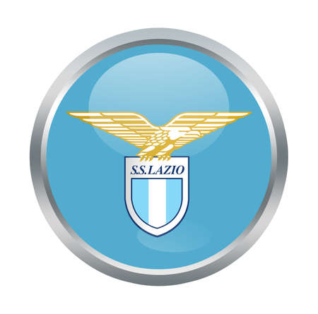 lazio: Lazio fc sign on white Editorial