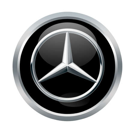 Mercedes benz sign on white