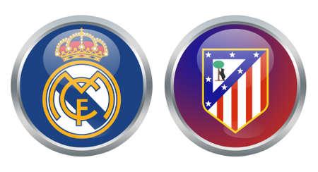 real madrid: Real Madrid vs Atletico Madrid signs