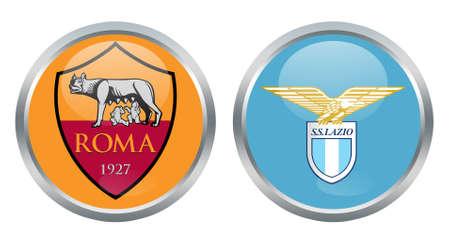 lazio: Roma vs Lazio fc signs Editorial