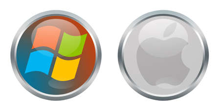 Microsoft Windows and Apple signs Editorial