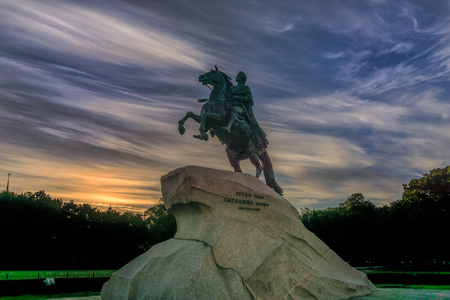 Statue of Peter the great in St. Petersburg, Russia