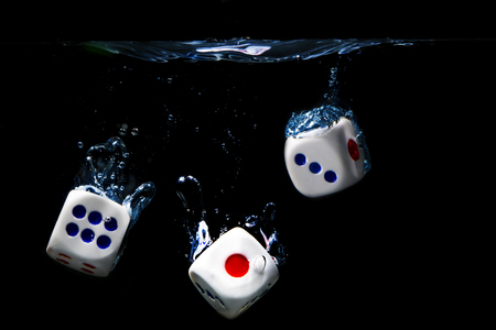 Dice on water
