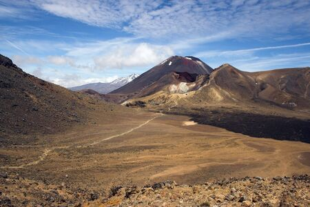 doom: Mount Ngauruhoe, Red Crater, Tongariro Crossing, New Zealand. Also know as Mount Orodruin or Doom in The Lord of the Rings