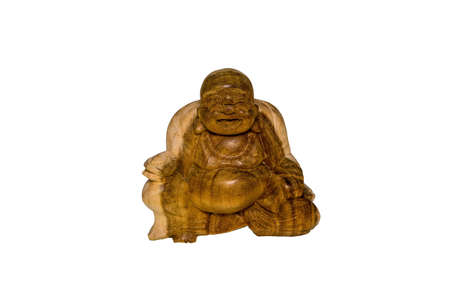 Mindfulness and Peace are strongly related to this wooden statue of Buddha