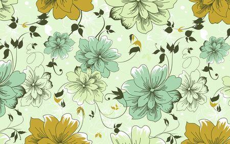 Bloemen Uitstekend Behang - Gold Theme
