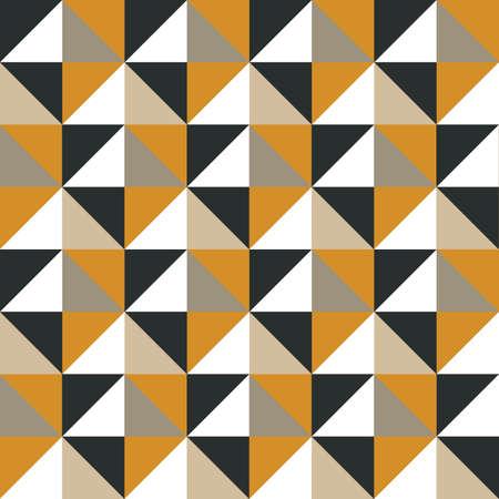 artwork: Retro Artwork - Caramel & Gold Triangles Stock Photo