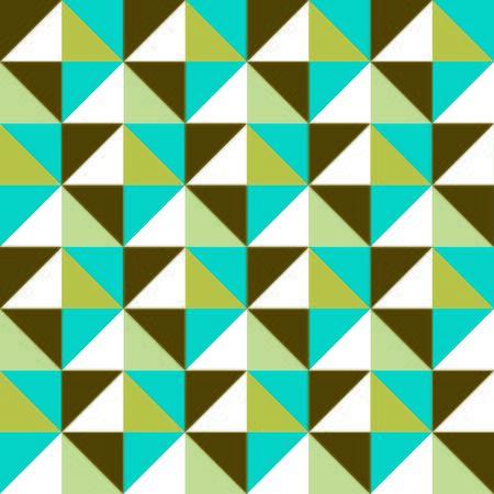 artwork: Retro Artwork - Blue & Green Triangles Stock Photo